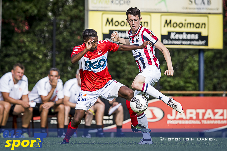 Dylan Ryan in action for Willem II