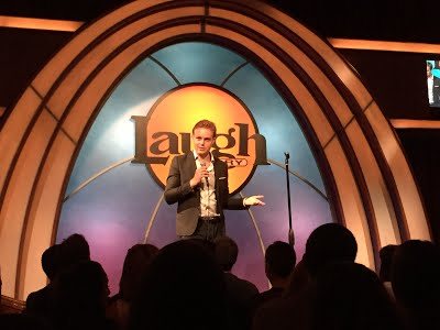 Performing at The Laugh Factory in LA