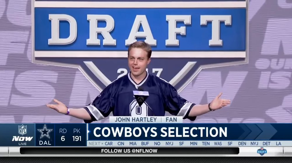 Announcing the Cowboys' 6th round pick (191st overall) in the 2017 NFL Draft in Philadelphia