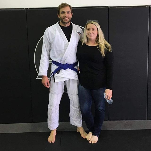 Congrats to Justin Drainville on his blue belt promotion. Justin is a lifetime member so his new ring is in the mail! And kudos to Justin's wife for sitting through an entire blue belt test! #bjjrings #bjjwedding #brazilianjiujitsu #bjj #bluebelt