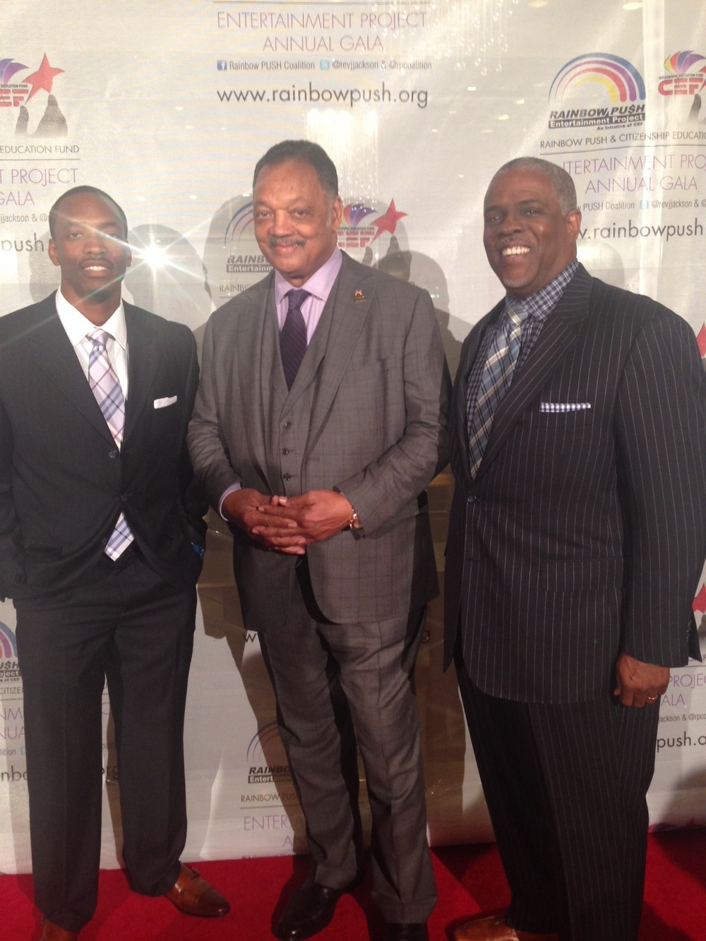 Professor Mark T. Harris, Esq. and Martin Harris with the Honorable Reverend Jesse Jackson