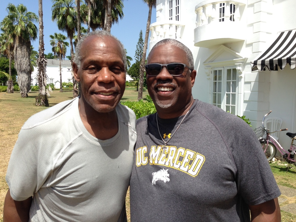 Professor Mark T. Harris, Esq. with The World Renowned Actor, Director, and Activist Danny Glover