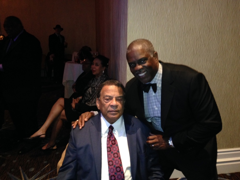 Professor Mark T. Harris, Esq. with The Honorable Mayor Andrew J. Young Jr.