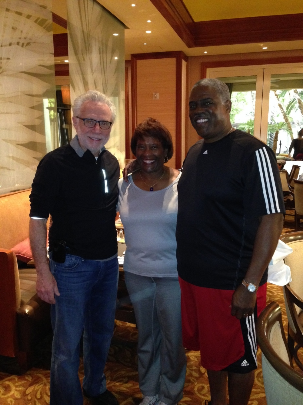 Professor Mark T. Harris, Esq. and Dr. Marianna Harris, EdD. with CNN Journalist and Television News Anchor Wolf Blitzer