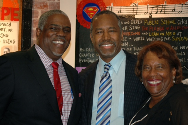 Professor Mark T. Harris, Esq. and Dr. Marianna Harris EdD. with Dr. Ben Carson