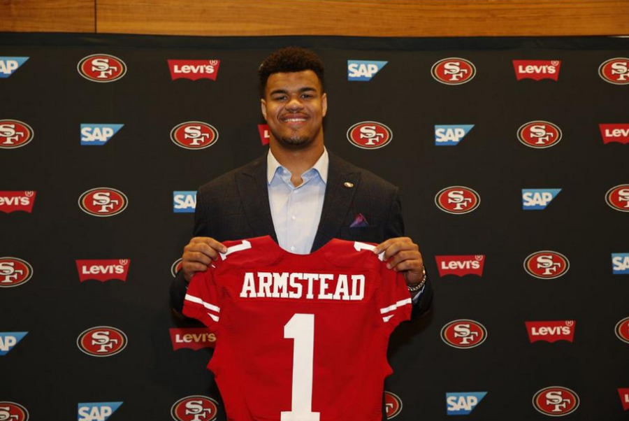 National Football League Defensive End Arik Armstead