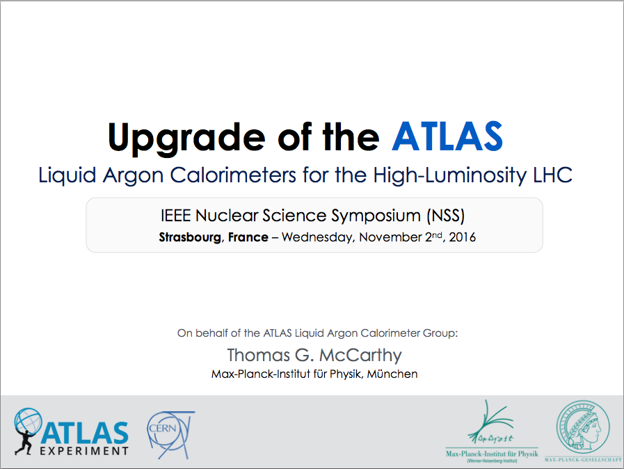 IEEE Nuclear Science Symposium, November 2016