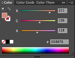 RGB sliders that demonstrate the mixture of the three colors to create an final output color.