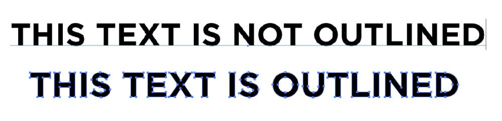 La diferencia entre el texto resumido y el texto editable en Illustrator, Photoshop e InDesign para la configuración del archivo de impresión.