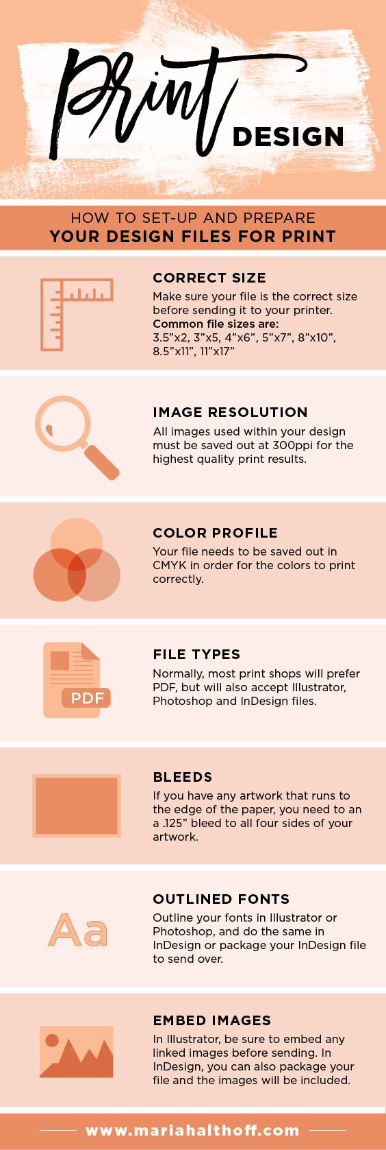 Print Design Infographic
