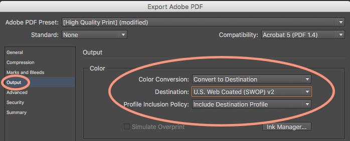 Prepara tus archivos para impresión: Exportar un PDF a perfiles de color CMYK.