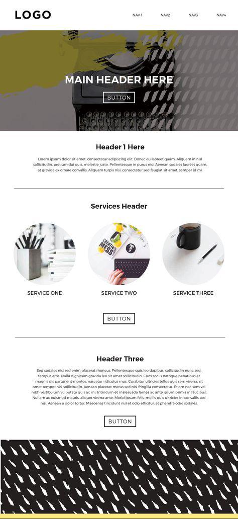 Website Mock Up Designed from Mood Board