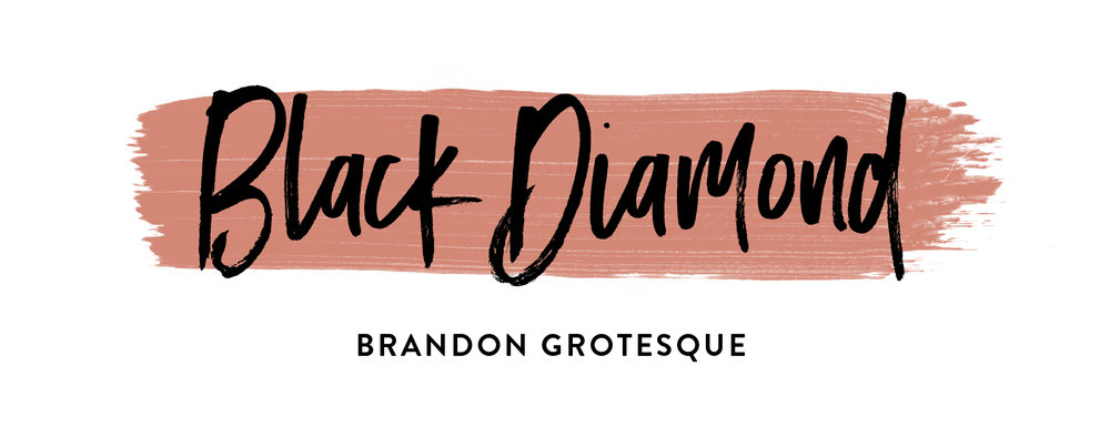 Black Diamond - Top Brush Fonts and Font Pairing