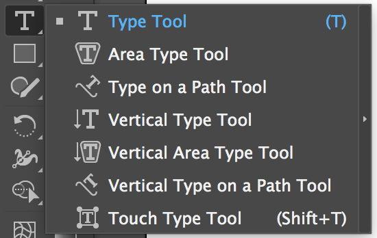 Adobe Illustrator Tools – Type Tools
