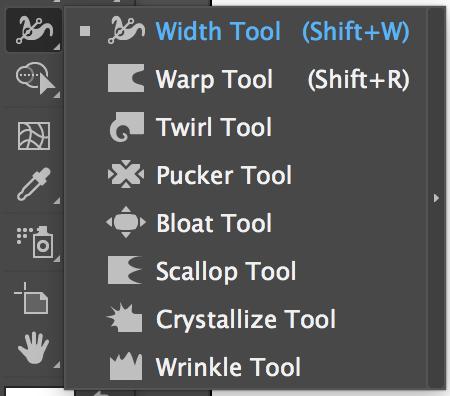 Adobe Illustrator Tools – Width Tool, Warp Tool, Twirl Tool, Pucker Tool, Bloat Tool, Scallop Tool, Crystallize Tool, Wrinkle Tool