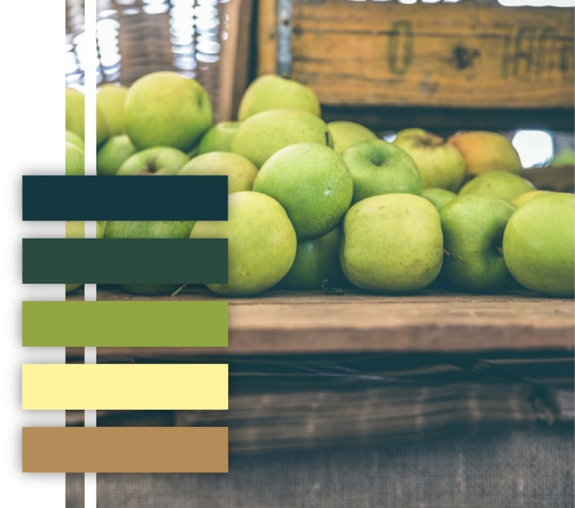Green, apple, color palette, lime green, yellow