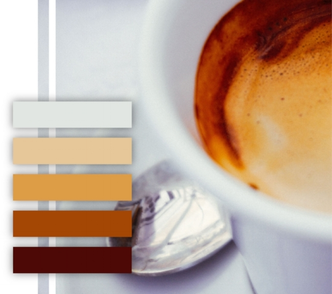 Coffee color palette, browns, neutral color scheme, tan, dark brown