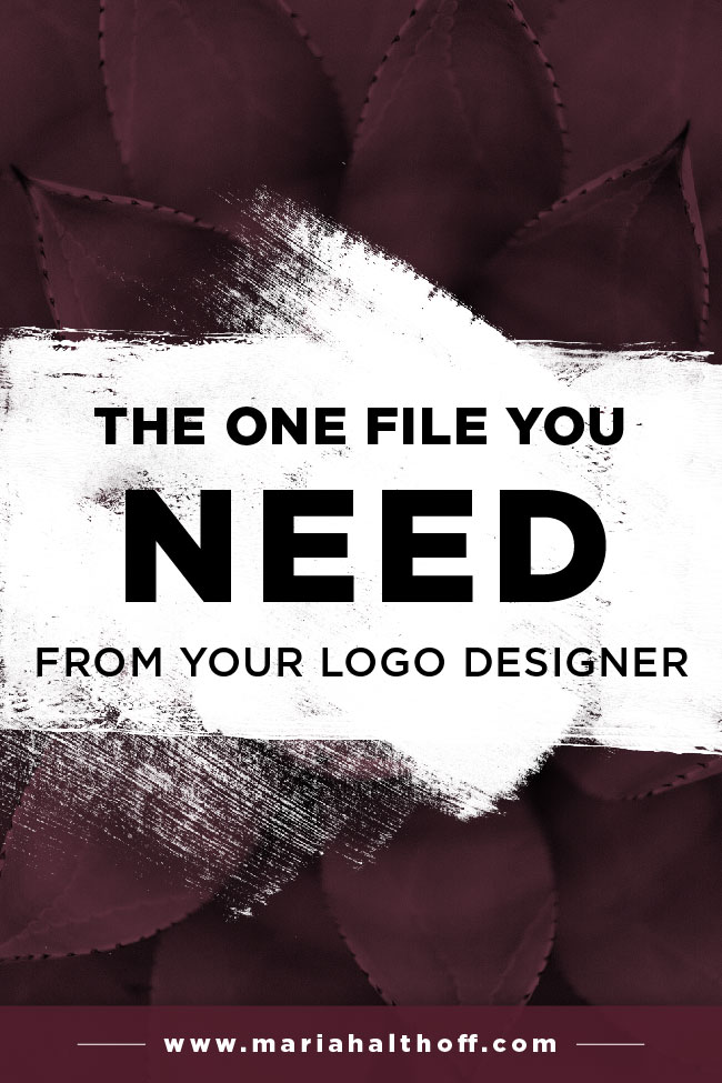 If you're getting your logo designed by a professional, make sure you get this ONE logo file from your designer. You'll regret it down the road if you don't. Find out what it is and why you need it!