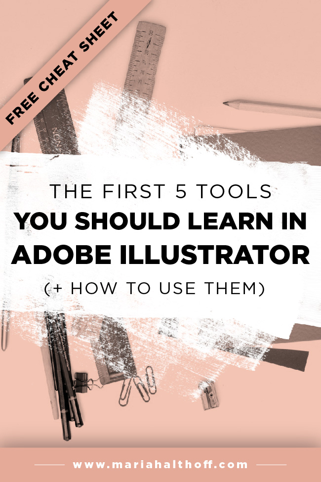 If you're wanting to learn Adobe Illustrator, this is a great place to start! I'll teach you the first five tools you should learn in Illustrator – and more!