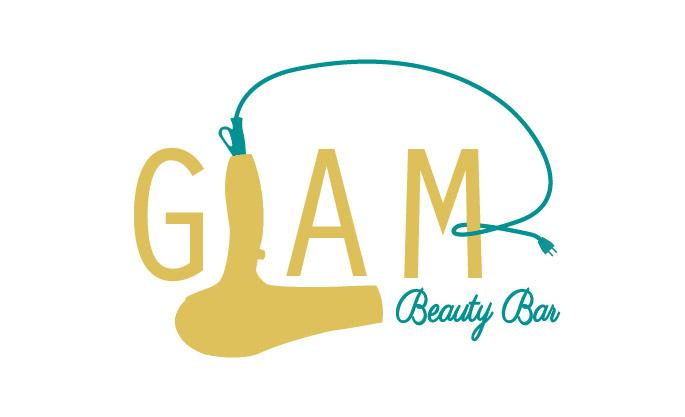 Pen Tool Logo Design – Glam Beauty Bar