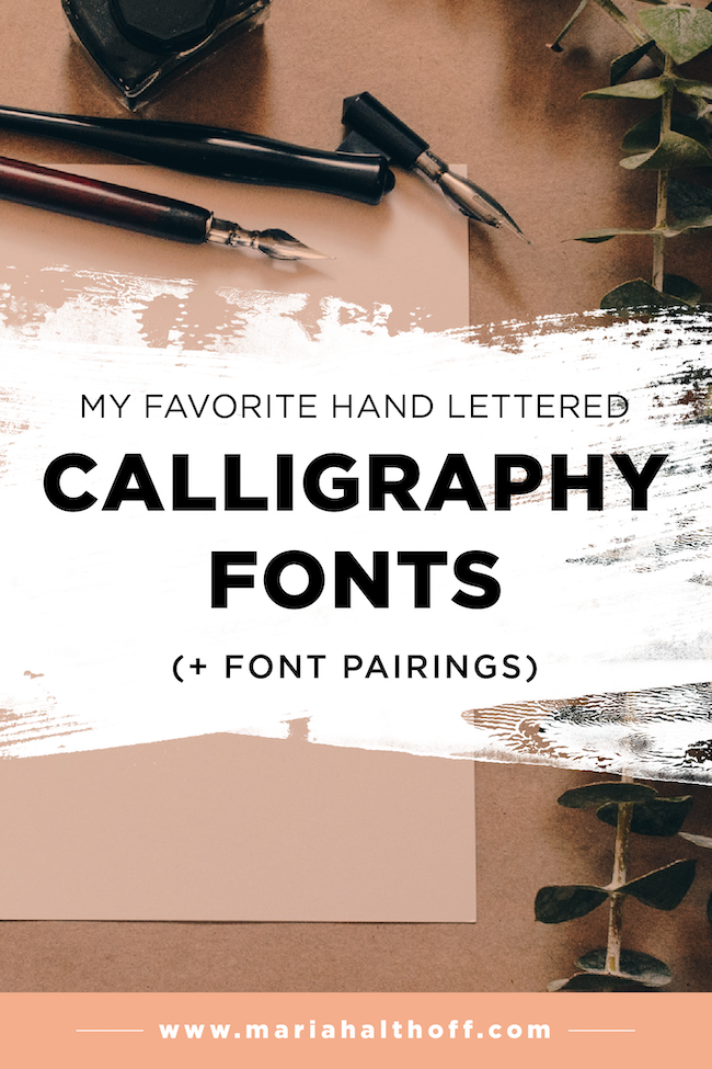 My top 5 favorite hand lettered calligraphy fonts font pairings my top 5 favorite hand lettered calligraphy fonts font pairings stopboris Images