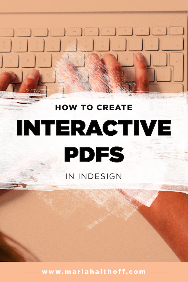 How To Create An Interactive Pdf In Indesign Mariah Althoff