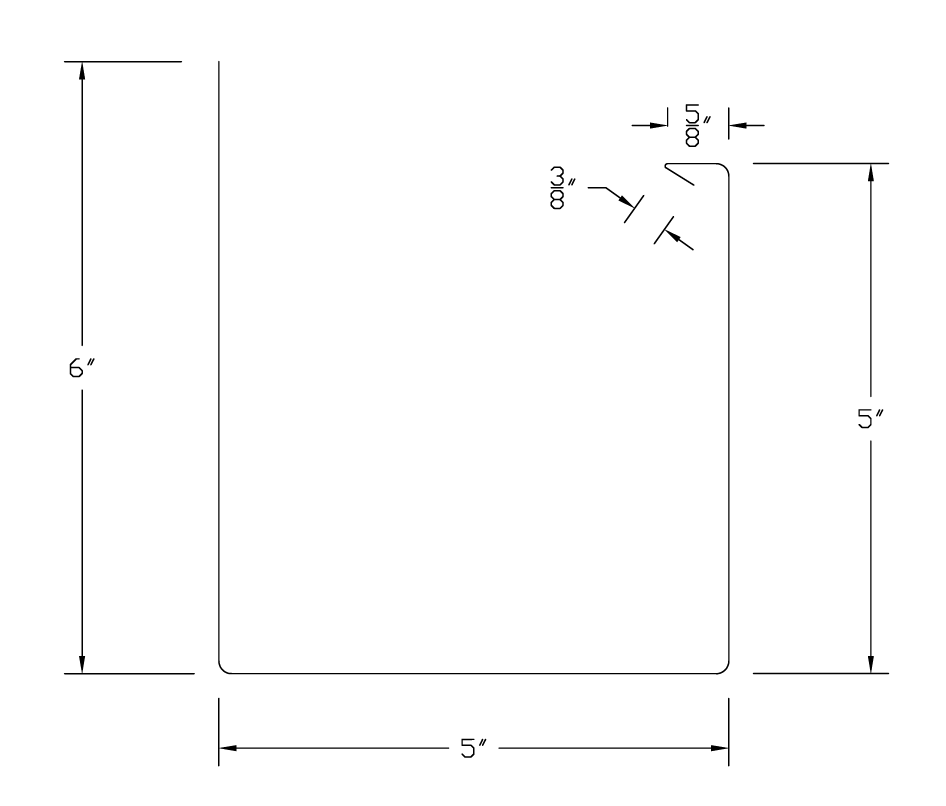 5 Inch Plain Square