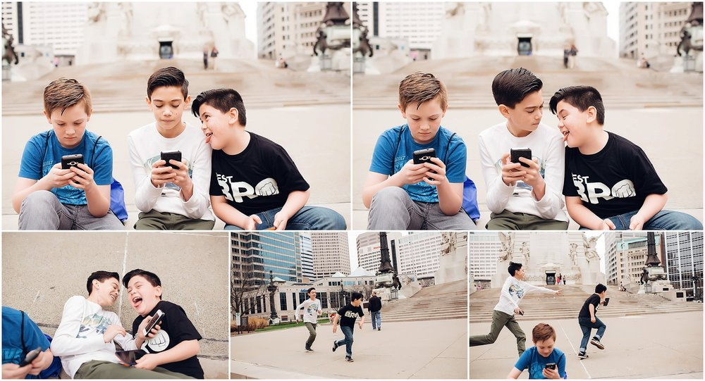 Downtown Indianapolis | Brothers | Rhiannon Loyd Photography | Indiana Photographer