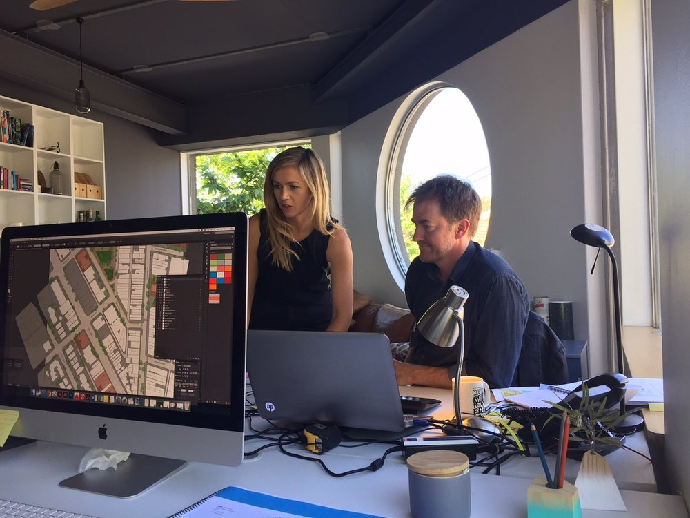 The team puts the final touches on the Ourimbah Masterplan
