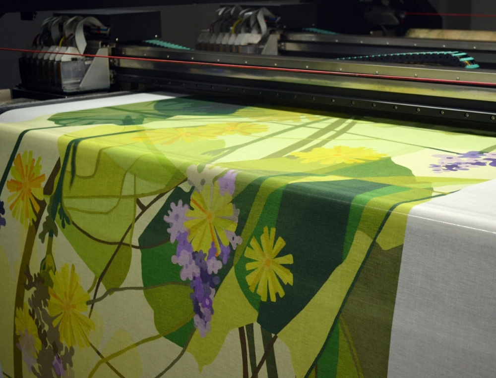 Printing the artwork was the most exciting stage of the process. It was amazing to see the designs with a myriad of colors printed so quickly on the fabric and at such a large scale.