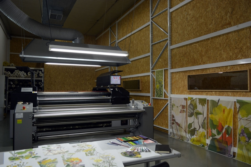 My 'studio' for several weeks was the digital printing lab at MoreTextile Group.