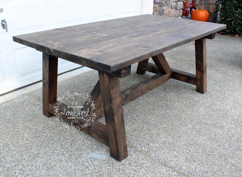 Good Truss (6ft) Farmhouse Table