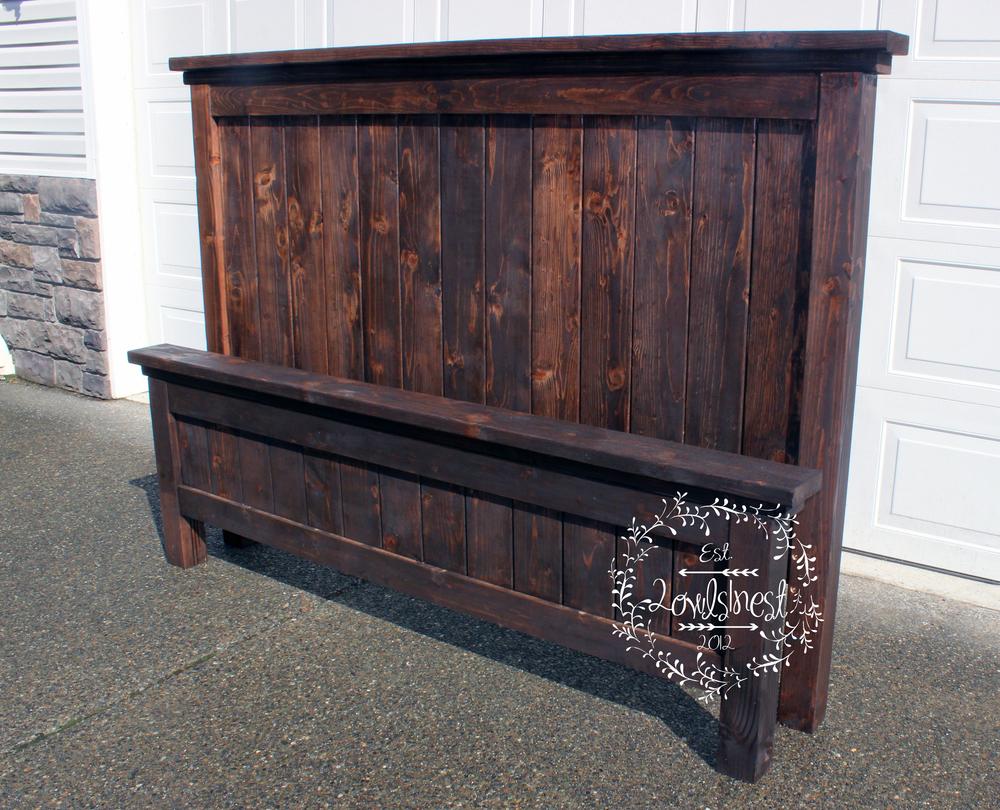 King Farmhouse Bed Frame — 2owls1nest