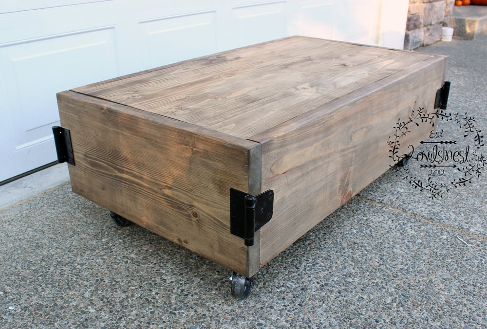 Factory cart coffee table 2owls1nest