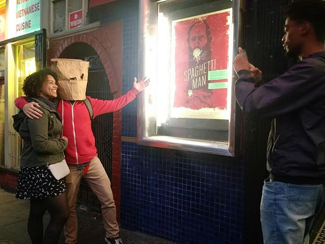 These people discovered the power of the world's next big superhero and he was nice enough to give them a discount on this photo. Watch the film at www.spaghettimanfilm.com #spaghettiman #indiefilm