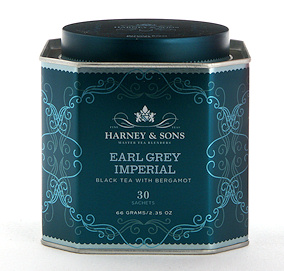 delicious  tea  in beautiful tins