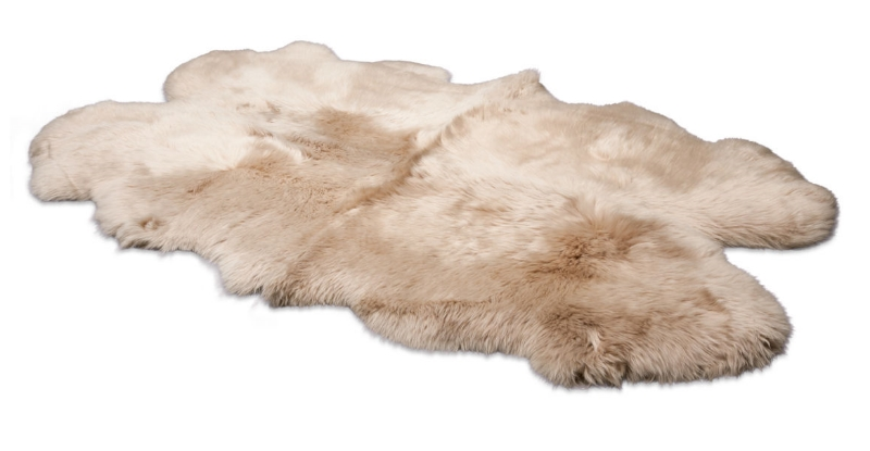 Sheepskin Rug  to cover wood floors and summer rugs