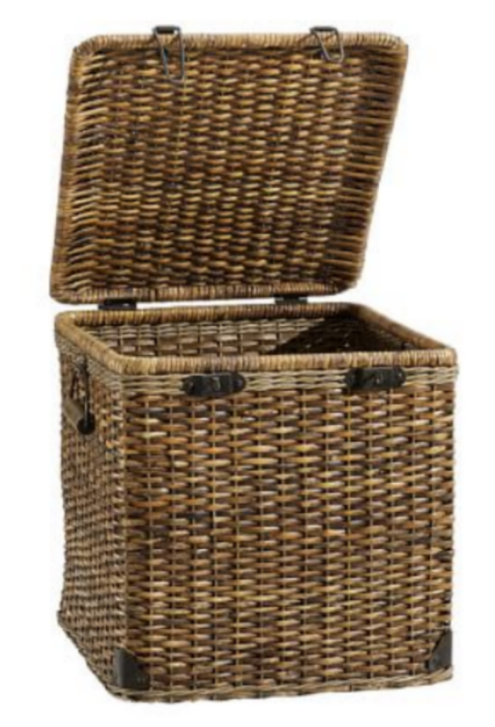 """Daytripper"" Lidded Woven Basket to house ""Winter Kit"""