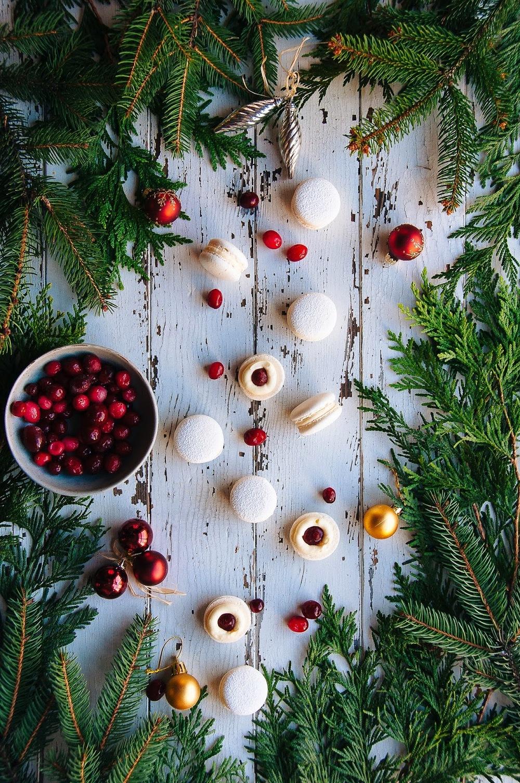 Cranberry White Chocolate Macarons