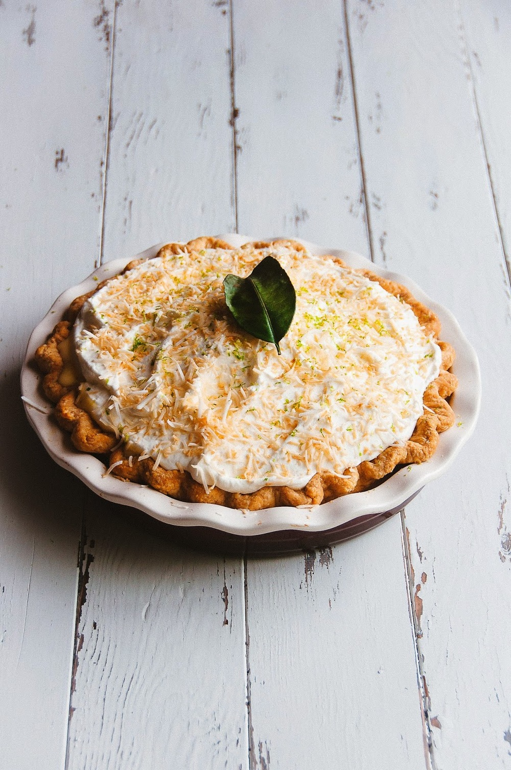 Coconut and Kaffir Lime Custard Pie —