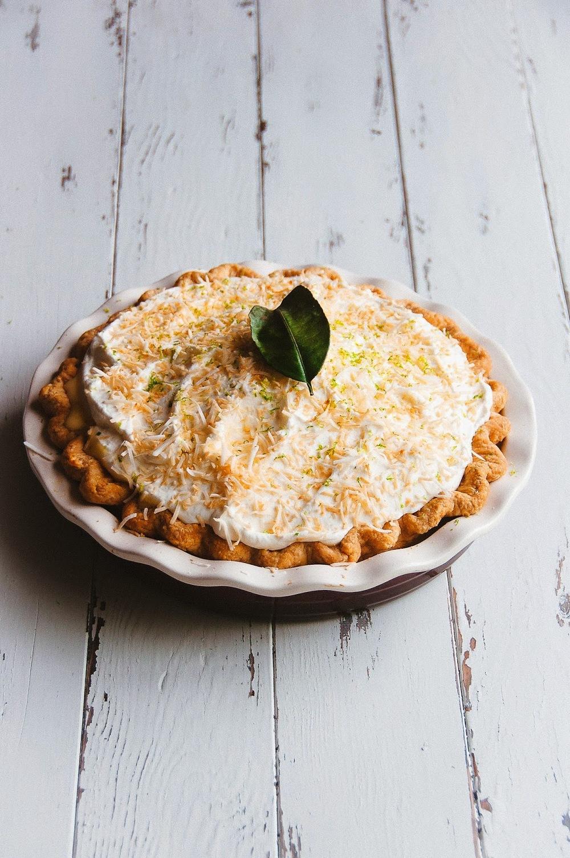 Coconut and Kaffir Lime Custard Pie —