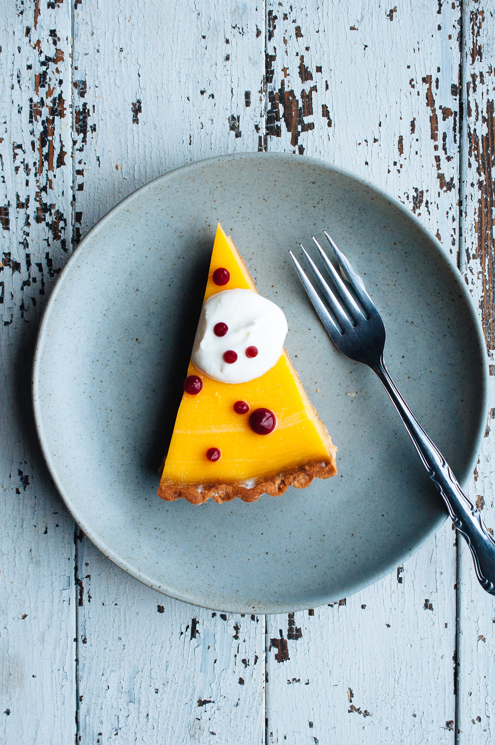 Lemon & Earl Grey Tart with Buttermilk Chantilly and Raspberry Fluid ...