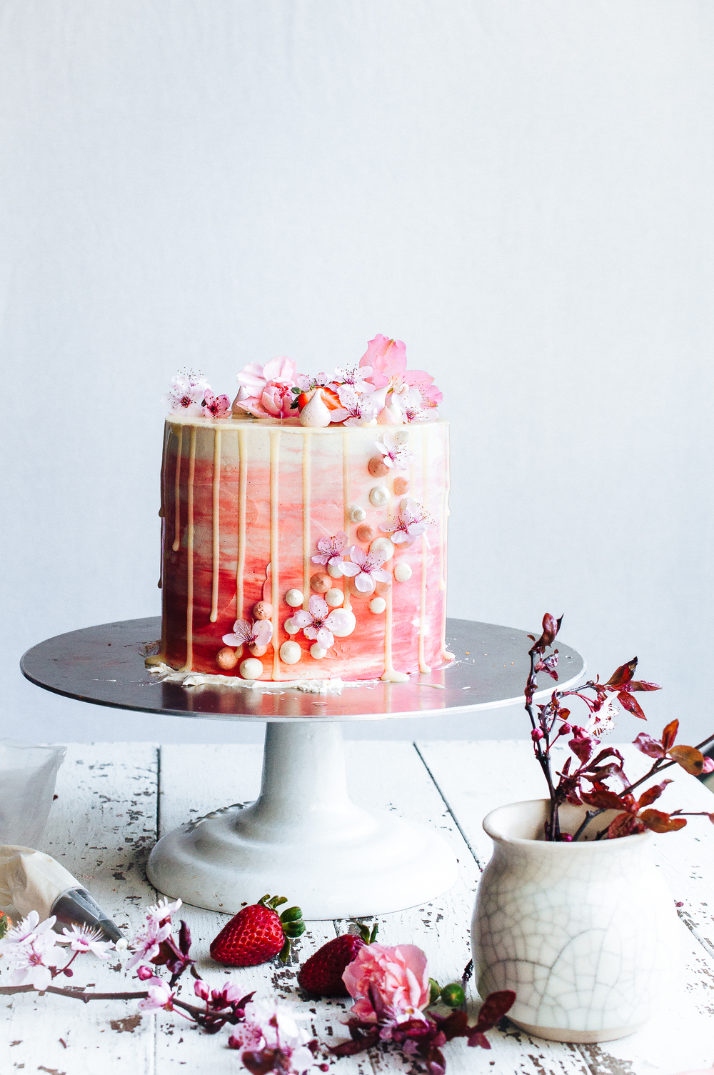 Strawberry and Vanilla Bean Cake