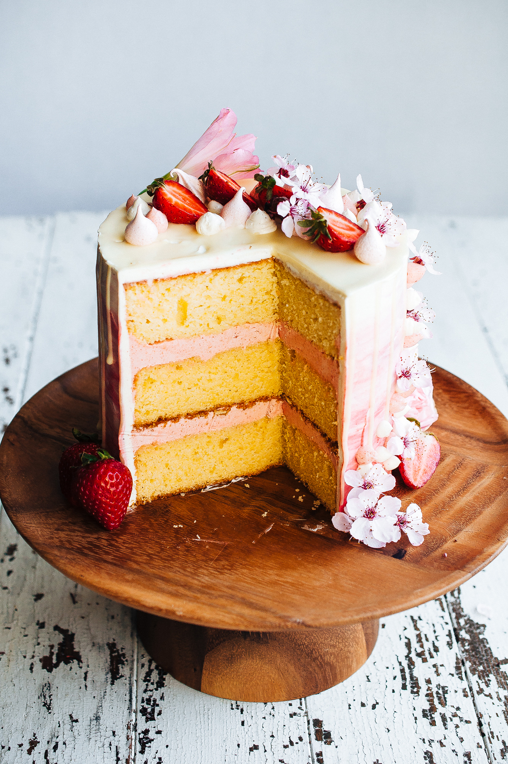 strawberry vanilla cake strawberry and vanilla bean cake 7780