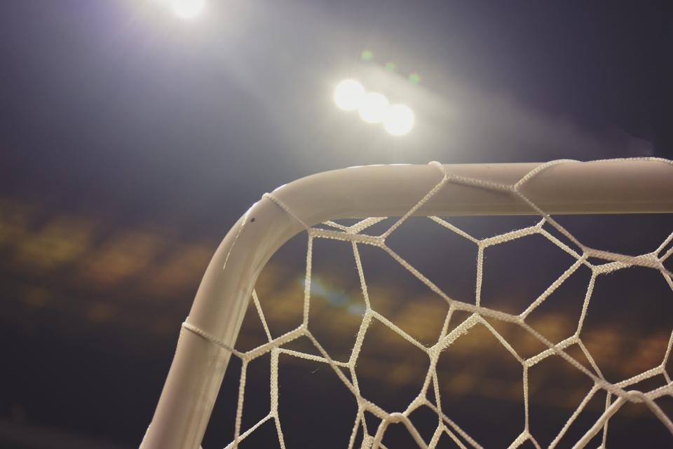 soccer goa, net, lights