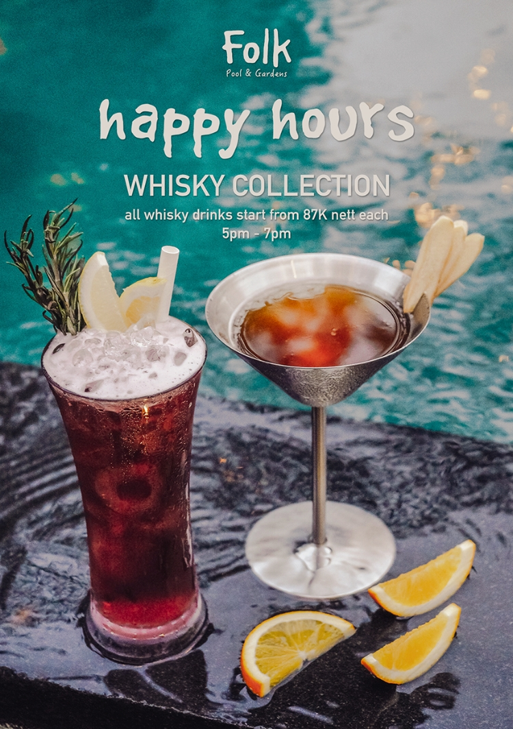 Whisky Drinks Happy Hour on the daily
