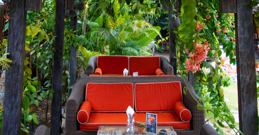 PERGOLAS   Sofas and chairs under the lush pergolas are perfect for bigger groups to enjoy a delicious lunch or dinner, pergolas are free to access. Book a table   here  .