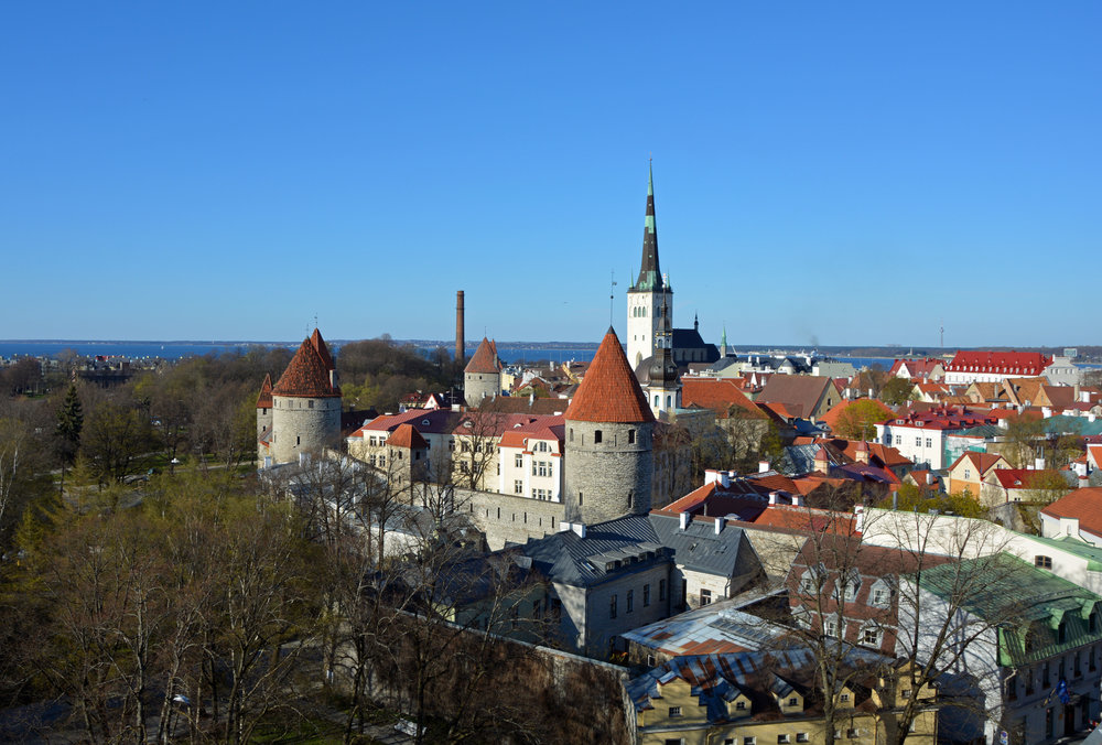 View from Kahtoutsa platform on Tallinn, Estonia