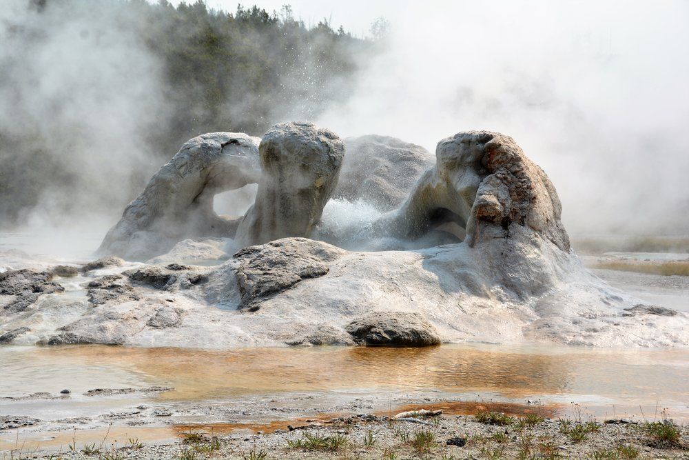Fan, Mortar & Spiteful Geysers, Upper Geyser Basin
