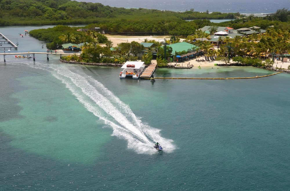 Roatan Island, view from the cruise ship